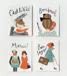 Always a good idea to have a cute set of cards - Assorted French Cards by Rifle Paper Co.