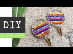 How To Make Circle Of Life Earrings with Seed Beads and Wire - YouTube