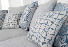 These Blue Cushions Continue The Sea Coloured Theme. Pair Of Scatter  Cushions   Fable   Living Room Furniture