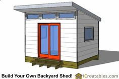 10x12 modern studio shed plans More