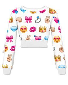 Cropped Emoji Sweatshirt