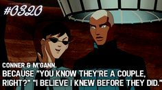 Reasons To Ship YJ #renewyoungjustice