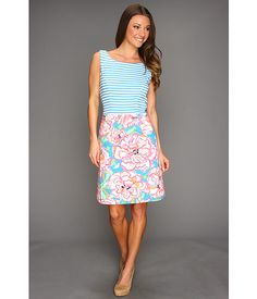 Lilly Pulitzer Julianna Dress  with a cardi and wedges for a wedding guest.