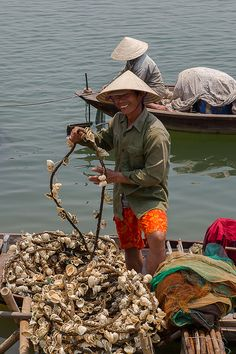 "These are Vietnamese fishermen, but a reminder to get something like Jeff's ""Cambodia hat"""
