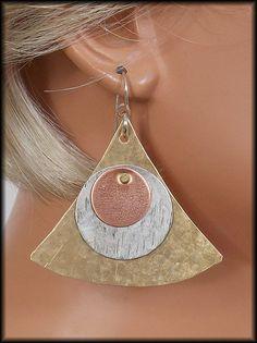 MODERN PYRAMID  Handforged by sandrawebsterjewelry on Etsy, $32.00