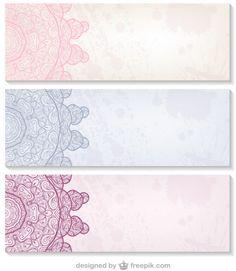 Decorative design banners set