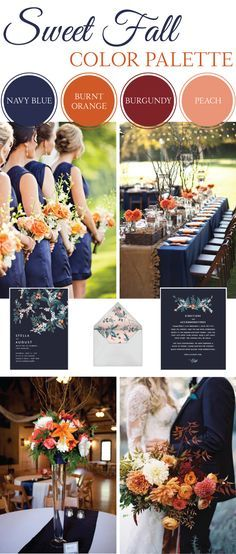 Sweet Fall Wedding Color Palette october wedding colors schemes / fall wedding ideas colors october / fall wedding ideas november / fall winter wedding / fall colors for wedding Wedding 2017, Our Wedding, Dream Wedding, Trendy Wedding, Elegant Wedding, Wedding Venues, Perfect Wedding, Wedding Ceremony, Wedding Photos