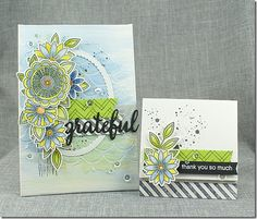 For my workshop we did a mixed media canvas and a card using some June release products: Funky Flowers, Funky Flowers Die-namics, and Grateful For You.