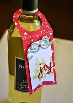 Joy Bottle Tag by Maile Belles for Papertrey Ink (October 2014)