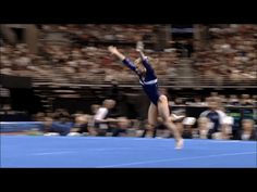 Shawn Johnson gif. 2008 Olympic Trials Day 2 Floor first pass, double double #gymnastics