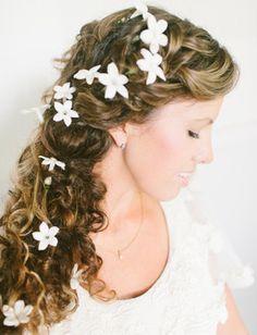 flower power bridal hair
