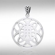 Celtic Knotwork Cross of Harmony Silver Pendant TPD991 - The design of Celtic knotwork celebrates the harmony of life with an interconnected weave. Makes a beautiful gift.  Peter Stone the world's leading manufacturer of fine sterling silver jewelry has created the Celtic Knotwork Collection to celebrate Celtic Heritage and capture the intricate knotwork designs that have inspired mankind for ages.