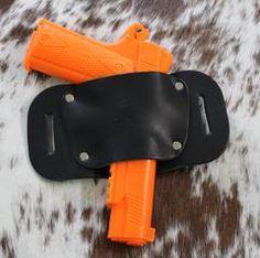 """OWB Holster """"The Bull"""" Model Belt Holster for 1911 by Concealed Carry Wear Concealed Carry Holsters, Leather Holster, Black Leather, Belt, Model, Style, Belts, Swag"""