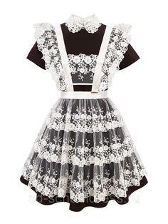 """Кружевной фартук """"Premium"""" №26-2 (белый): продажа, цена в Чебоксарах. школьная форма от """"""""School Dress"""" производственная компания одежды и аксессуаров для школьников и выпускников"""" - 410768248 Fasion, Baby Dress, Maid, Russia, Fashion Dresses, Prom, Outfits, Clothes, Women"""