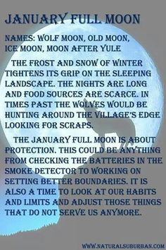 January full moon meaning and names. January full moon meaning and names. January Full Moon, Full Moon Meaning, Full Moon Names, Full Moon Ritual, Wicca Witchcraft, Green Witchcraft, Moon Magic, Wolf Moon, Moon Goddess