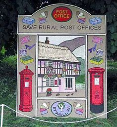 Well dressing at Tideswell, Derbyshire, England.   Mary Cartledgehayes: The Art of the Tidza Parade
