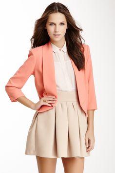3/4 Sleeve Jacket// and a little bit of a longer skirt...