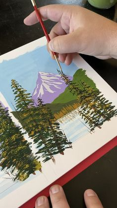 Painting Mountain Landscapes with Gouache - See more inspirational art videos and prints available on by Artist Philip Boel -🏔 Painting Mountain Landscapes with Gouache - See more inspirational art videos and prints available on by Artist Philip Boel - Small Canvas Art, Mini Canvas Art, Easy Canvas Art, Kids Canvas, Gouache Painting, Painting & Drawing, Learn Painting, Sky Painting, Feather Painting
