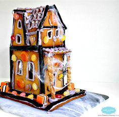 Do not buy gingerbread house kit make your own Halloween Gingerbread House Halloween Gingerbread House, Gingerbread House Kits, Halloween Christmas, Halloween Kids, Halloween Goodies, Halloween Items, Halloween Party Decor, Halloween Treats, Pumpkin Decorating