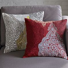 I love the Hand-Blocked Cotton Henna Pillow Cover on westelm.com