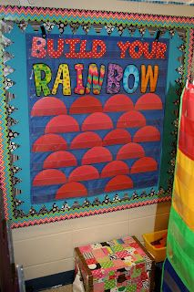 """behavior management, build your rainbow!!! I would love to use this in tandem with """"stay on green"""" systems. Every day you stay on green you get a rainbow piece! Prize at discovery time after you fill it."""