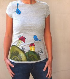painted lady fit camiseta colores funky original por byMIAmade