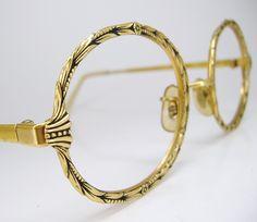 vintage eyeglass images | Vintage Round Flower Eyeglasses Frame 12K GF by Vintage50sEyewear