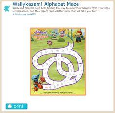 http://www.nickjr.com/printables/wallykazam-alphabet-maze.jhtml