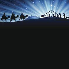 Pesebre de Navidad - ilustración de arte vectorial