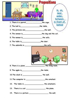 Prepositions of place Language: English Grade/level: grade 3 School subject: English as a Second Language (ESL) Main content: Prepositions of place Other contents: room, prepositions of place English Teaching Materials, Learning English For Kids, English Worksheets For Kids, English Activities, Grammar For Kids, Teaching English Grammar, Grammar Lessons, English Words, English Lessons