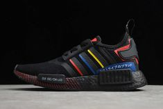 """adidas NMD R1 """"Olympic Pack"""" Core Black/Blue/Red FY1434 For Sale Adidas Shoes Nmd, Adidas Nmd_r1, Nmd R1, Red Sneakers, Olympics, Core, Black, Style, Fashion"""