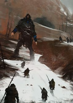 last of a dying tribe, Jakub Rozalski on ArtStation at https://www.artstation.com/artwork/288vJ