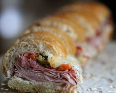 Decadent New Orleans style Muffaletta. Easy to make-ahead and freeze~perfect for your next party! - Via Y Delicacies Blog