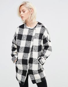Image 1 of Girls On Film Checked Coat