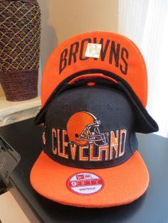 huge selection of 9a6ef d7aed New Era NFL Cleveland Browns Draft Day 9Fifty Adjustable Snapback Flat Bill  Hat Flat Bill Hats