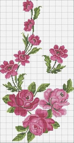 Trendy fruit pattern charts million+ Stunning Free Images to Use Anywhere Cross Stitch Rose, Modern Cross Stitch, Cross Stitch Flowers, Cross Stitch Designs, Cross Stitch Patterns, Cross Stitching, Cross Stitch Embroidery, Embroidery Patterns, Silk Ribbon Embroidery