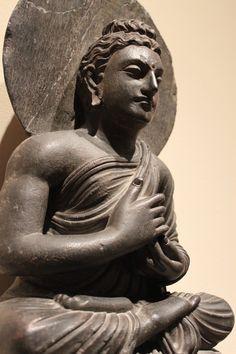 Teaching Buddha on elephant throne, Portland Art Museum, Oregon Buddha Zen, Buddha Buddhism, Buddhist Art, Buddha Figures, Sitting Buddha, Buddha Sculpture, Antiquities, Asian Art, Afghanistan