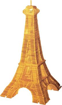 Deze Eifeltoren is opgebouwd uit 200 kapla plankjes. Bouw jij hem na?
