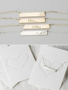 A custom personalized necklace gift for mothers, best friends, sisters or anyone special! Its a sweet, subtle way to wear your own version of family close to your heart. Give a special gift with this elegant take on the stick family concept. We can pretty much guarantee shell be like,