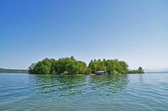 Roseninsel im Starnberger See #Bavaira