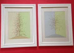 Framed Pressed Botanical Art Pair  Mexican by MyStoningtonGarden, $82.00