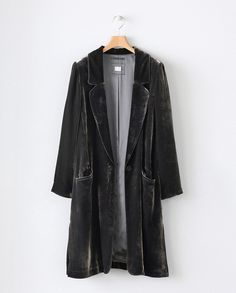 Image of Silk velvet coat