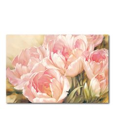 Another great find on #zulily! Vintage Peonies Wrapped Canvas #zulilyfinds