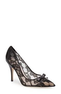 Crushing on these black lace pumps  | Kate Spade