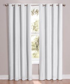 Take a look at this White Cassidy Eclipse Blackout Curtain Panel by Ellery Homestyles on #zulily today!25