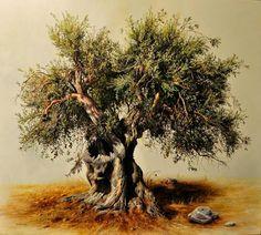 Realistic Tree Paintings By Elidon Hoxha