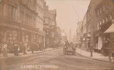 Richmond London, Richmond Upon Thames, Old London, Surrey, Old Photos, Postcards, Street View, Kingston, World
