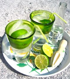 Gin Rickey:  Ice  1/2 lime, juiced with rind  1 1/2 to 2 ounces gin  Club soda