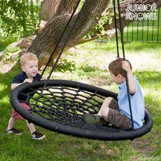 Junior Knows Gyerek Fészekhinta MOST 52585 HELYETT 25498 Ft-ért!, Ha szeretnéd otthon meglepni a kicsiket, akkor ne hagyd ki a Junior Knows gyerek fészekhintát, amely tökéletes kültéri használatra.Lengő gumi ülés és polipropilén csomózott szövetGalvanizált acél biztosítékkal és rögzítőgyűrűkkelPolipropilén kötélÁtmérő kb.: 100 cmHossza kb.: 115 cmMaximális terhelhetőség: 100 kgAjánlott korhatár: +3 év, akciosvasarlas
