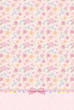 For my scale dh Bow Wallpaper, Flowery Wallpaper, Hello Kitty Wallpaper, Pastel Wallpaper, Cellphone Wallpaper, Mobile Wallpaper, Wallpaper Backgrounds, Printable Scrapbook Paper, Printable Paper
